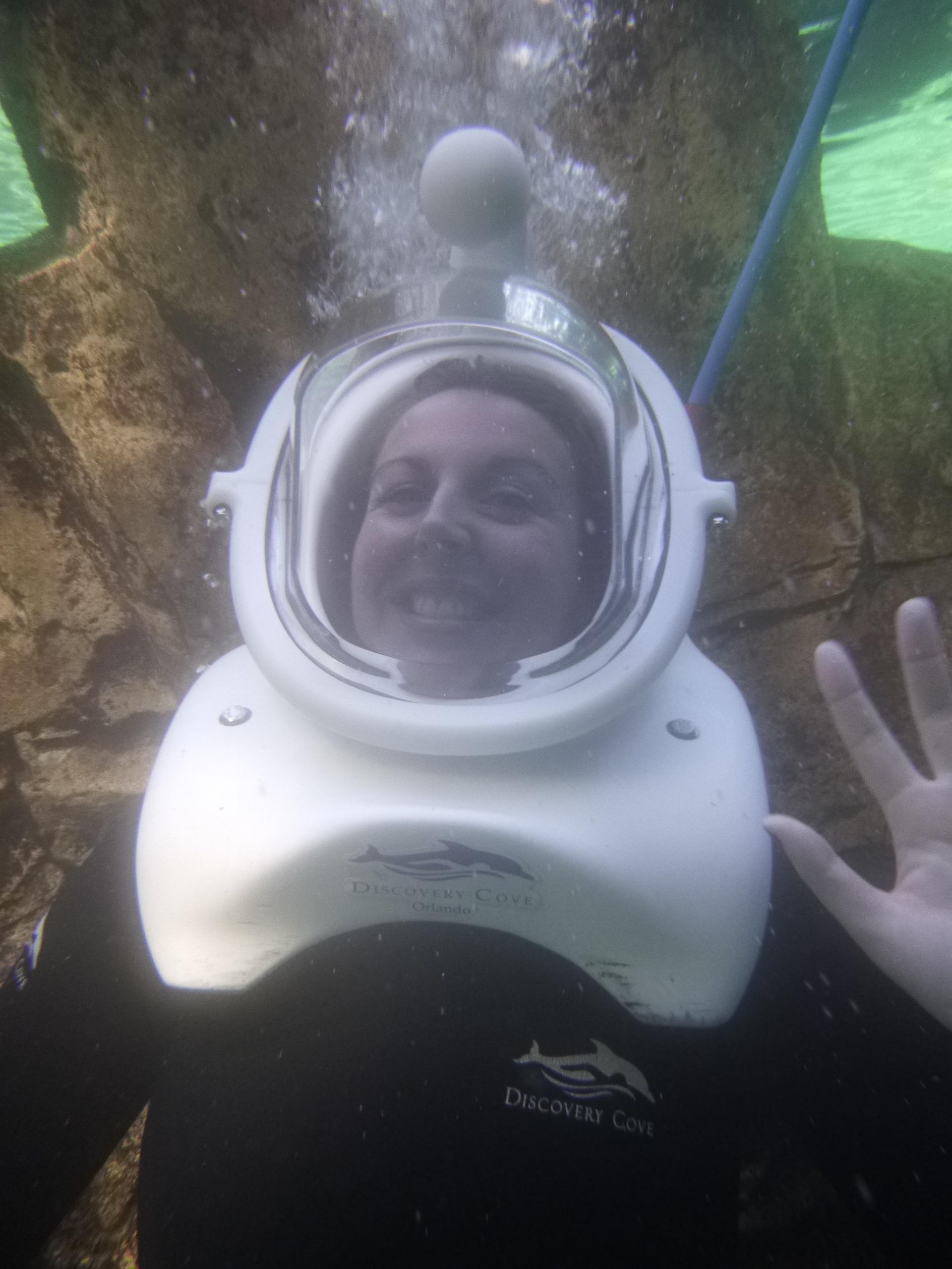 seaventure helmet underwater