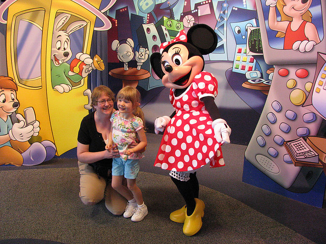 Minnie at Epcot Character Spot