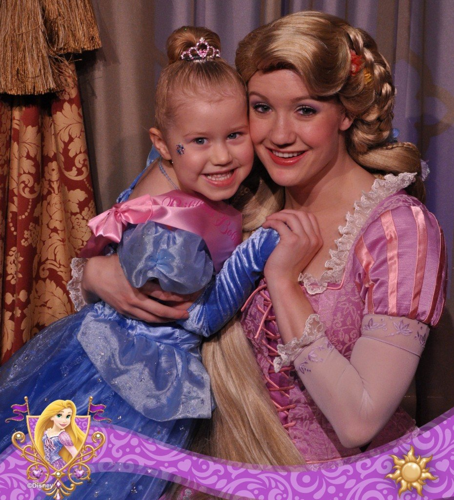 Meeting Rapunzel at Disney World