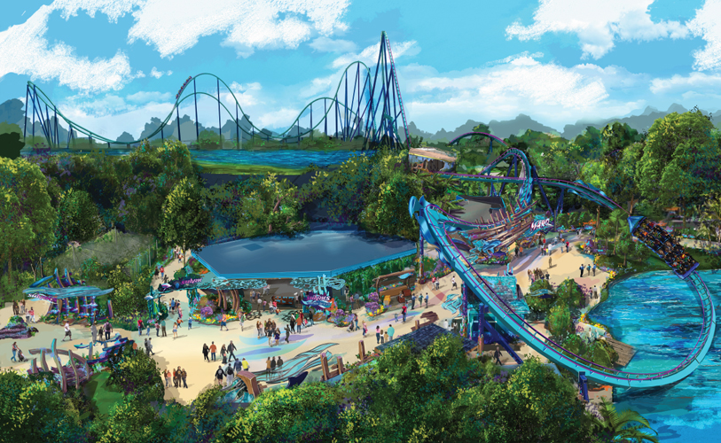 Mako new SeaWorld ride - Plaza birds eye view