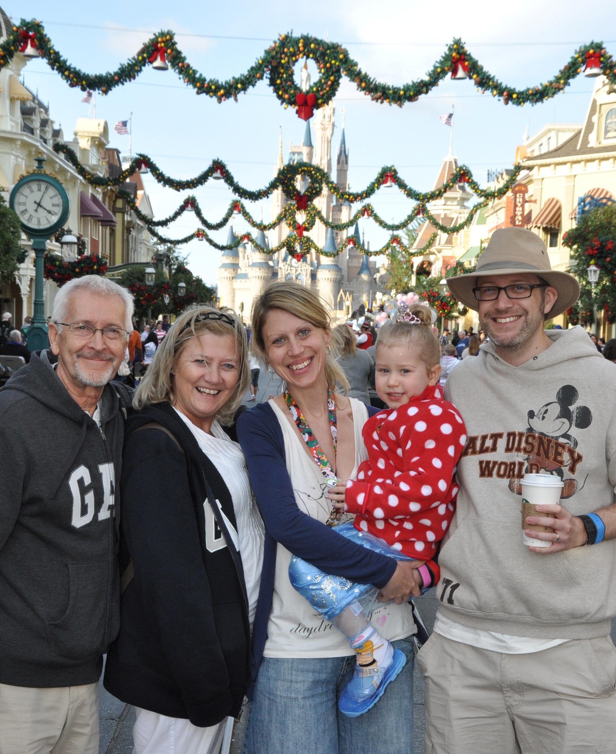 Disney World Family photo at Christmas