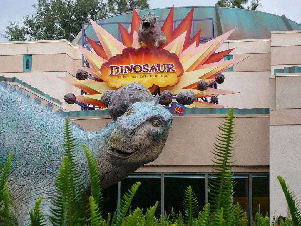 Entrance to Dinosaur ride at Disney World's Animal Kingdom