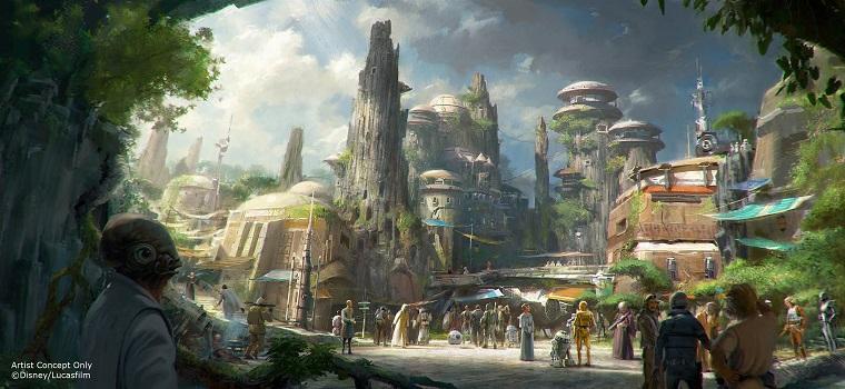 How Star wars land expansion at Disney world concept art