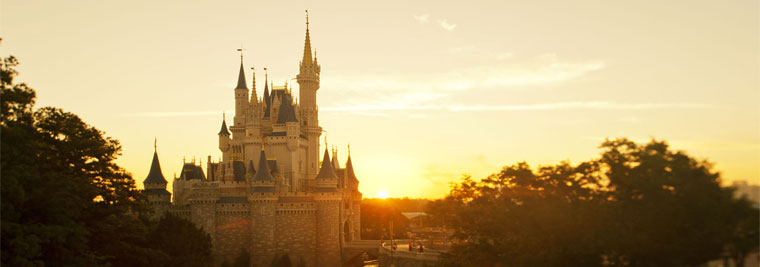Disney World at Sunset