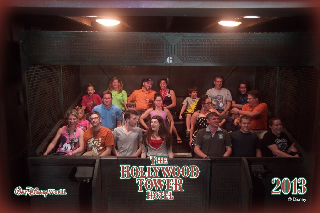 On the Tower of Terror Ride