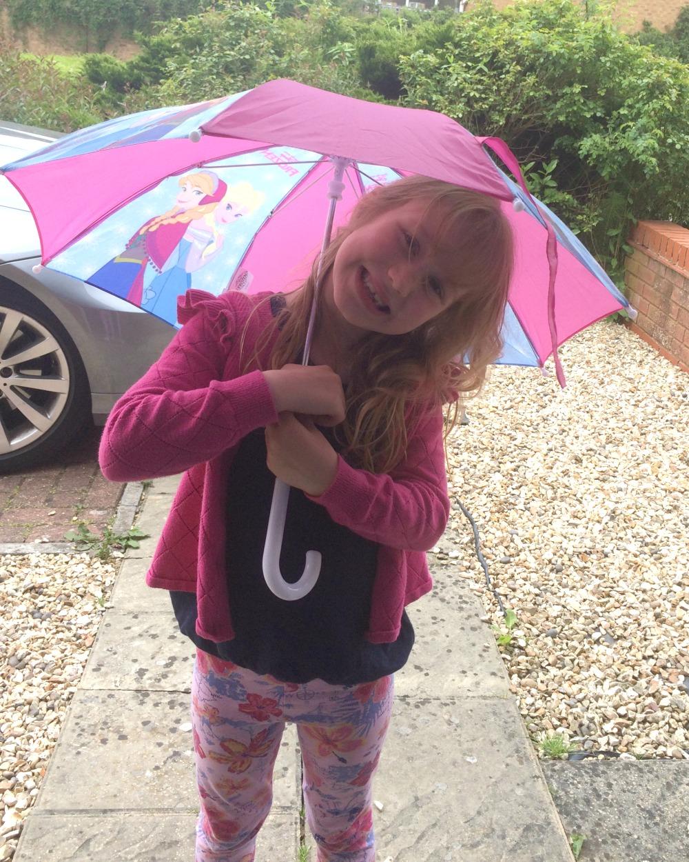 Girl with a Disney Umbrella