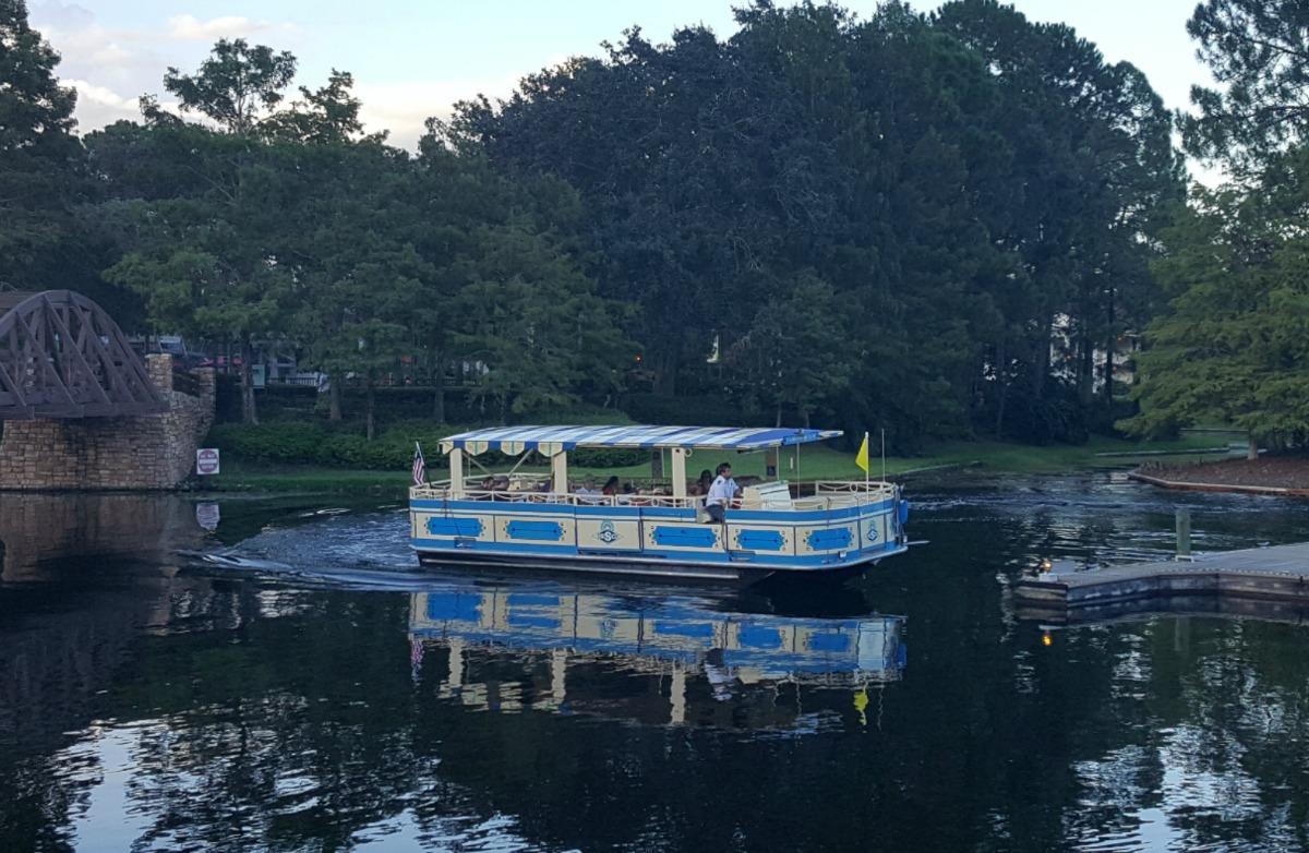 Disney Boat from Port Orleans Riverside to Disney Springs