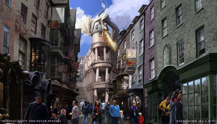 Plans Revealed for Harry Potter's Diagon Alley at Universal