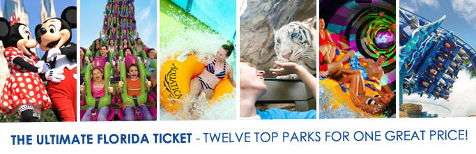 The Ultimate Florida Ticket - twelve top parks for one great price!