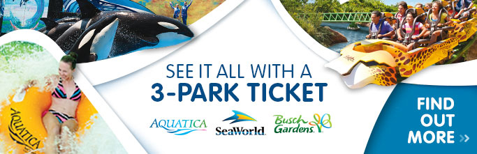 See it all with a 3-park ticket