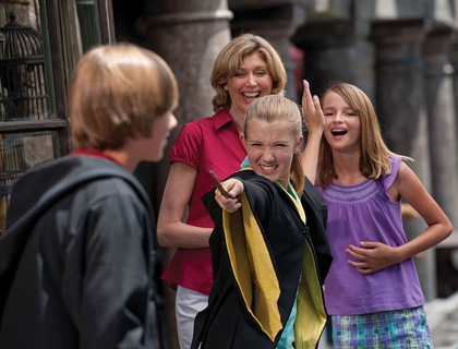 Family at Harry Potter World