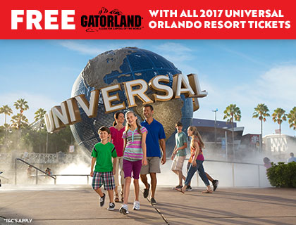 Free Gatorland with Universal Orlando Tickets