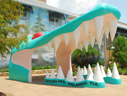 Entrance to Gatorland Orlando
