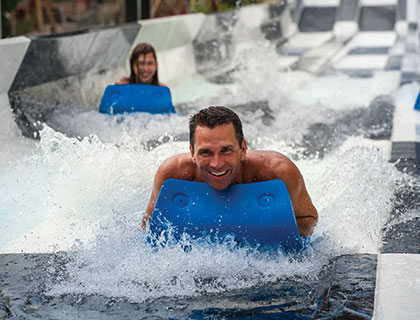 Adults on water ride at Wet n' Wild Orlando