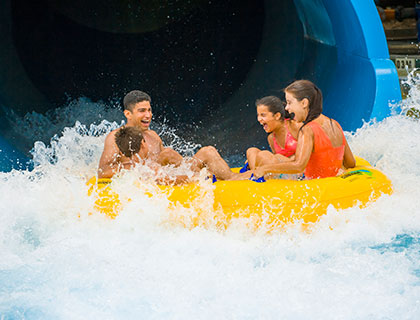 Kids on a rubber ring at Wet n' Wild Orlando
