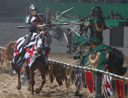 Jousting performance at the Medieval Times