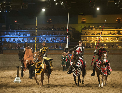 Crowds watching the Medieval Times Orlando Show