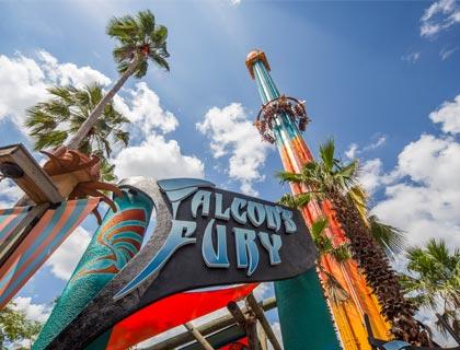 Falcon's Fury Ride at Busch Gardens