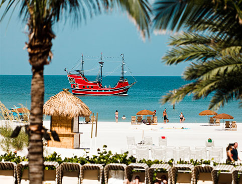 Clearwater Beach & Pirate Ship