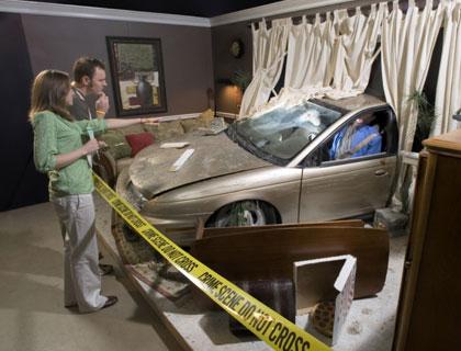 Car crash scene at CSI Florida