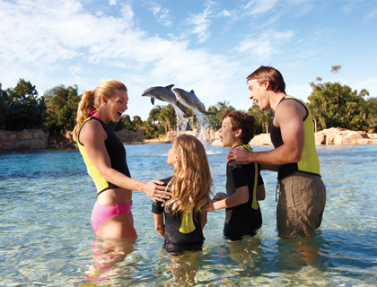 Family at Discovery Cove