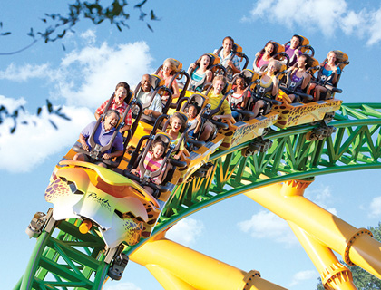 People screaming on Cheetah Hunt Ride at Busch Gardens