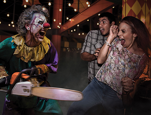 three scary costumes at Halloween Horror Nights Orlando