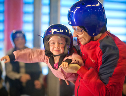 Girl at iFly Orlando skydiving