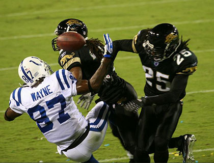 Players in Jacksonville Jaguars NFL Game Florida