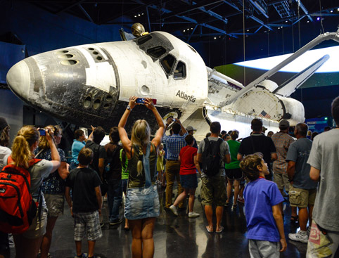 Kids dining with an astronaut at kennedy space centre