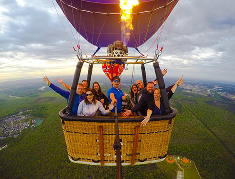 Hot Air Balloon Flight over Florida Everglades