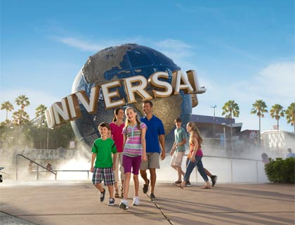Family at Universal Orlando Resort