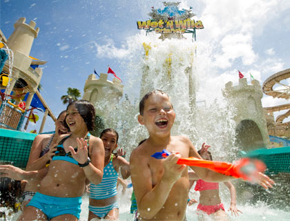 Water Play Area at Wet n Wild