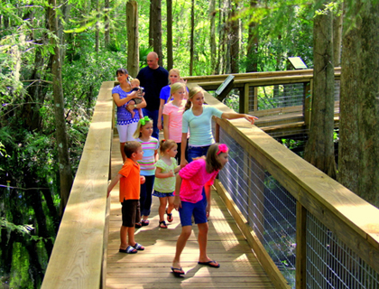 Family exploring Wild Florida Park