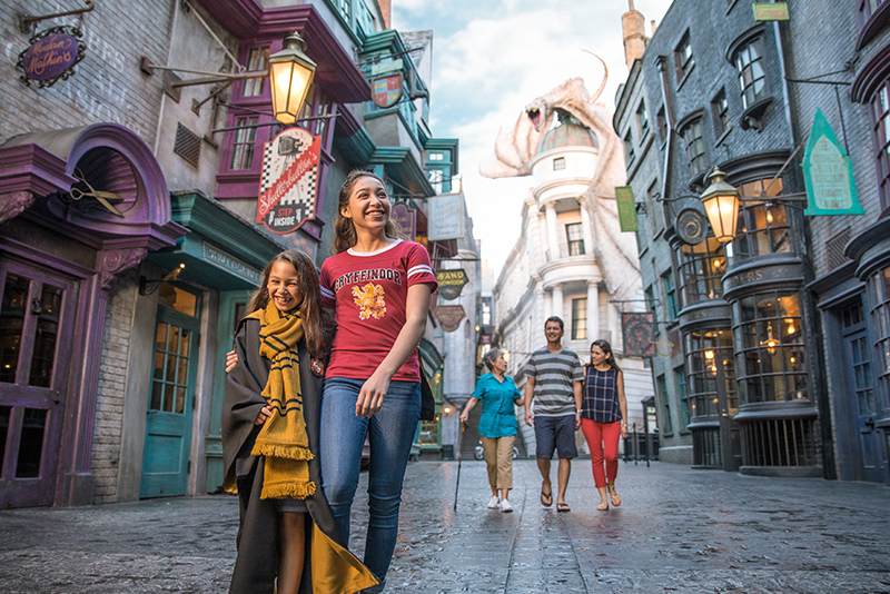 Family at Diagon Alley
