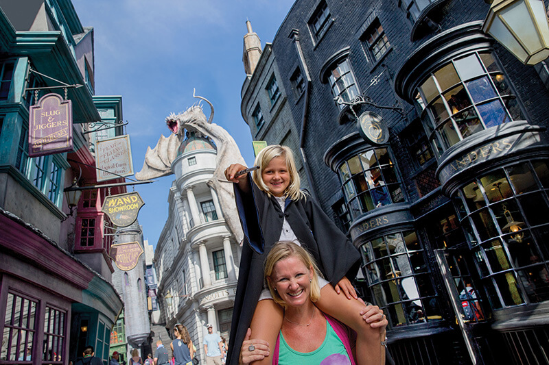 Mum and daughter at Diagon Alley