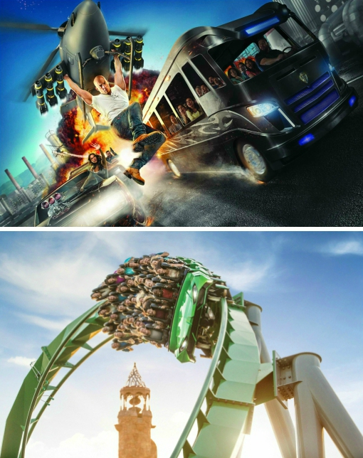 Fast and furious and Hulk at Universal Florida