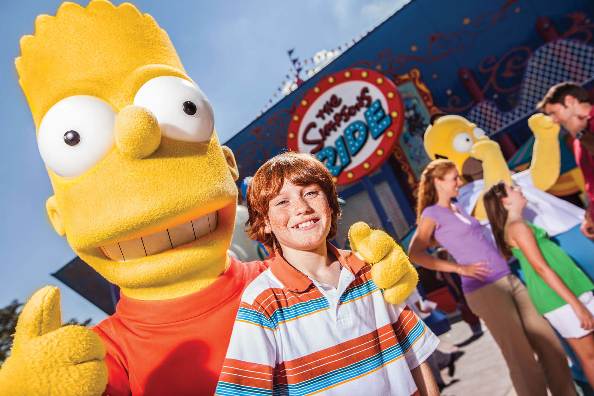 Bart Simpson with boy at Universal Florida