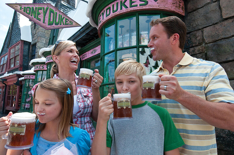 Family at Honeydukes in Hogsmeade