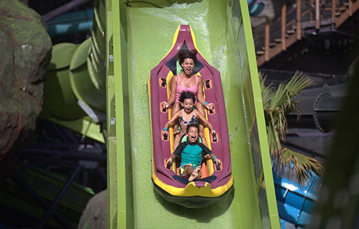 children at Volcano Bay's Runamukka Reef