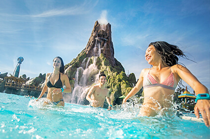 Volcano Bay's Wave Village