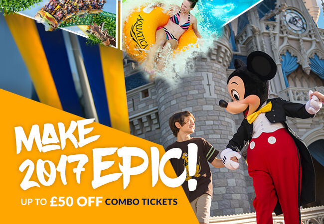 Save up to £50 off Combo Tickets