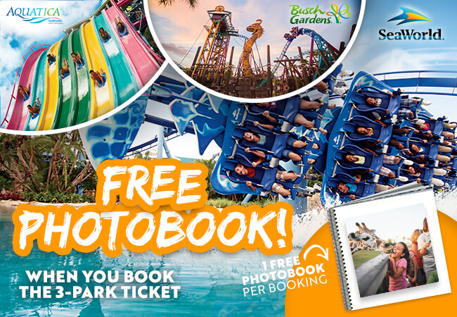 FREE Photobook with SeaWorld bookings