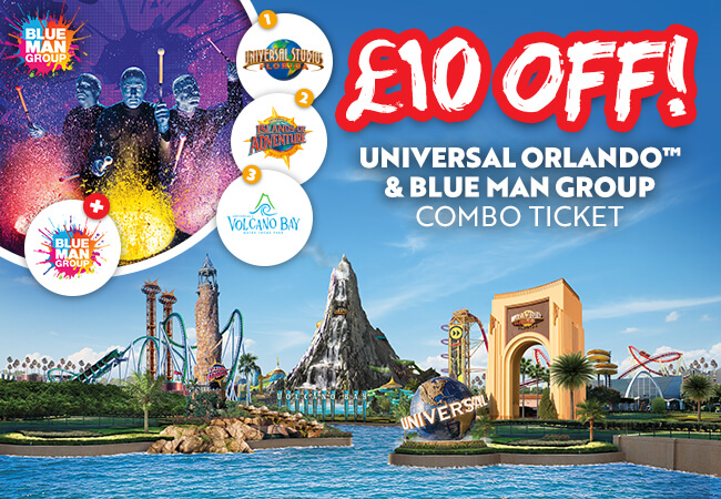 Universal and Blue Man Group Combo ticket